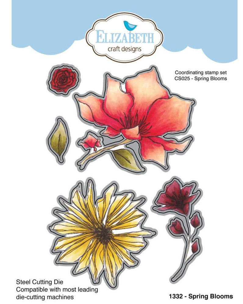 Elizabeth Craft Designs - Metal Die By Krista Designs - Spring Blooms