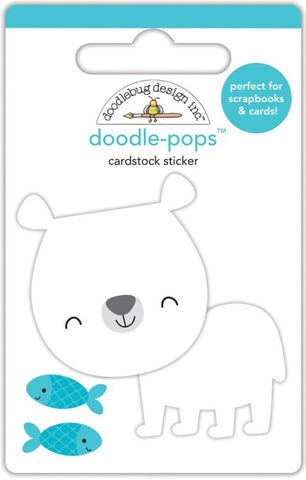 Doodlebug - Doodle-Pops Cardstock Stickers - At The Zoo Patrick Polar Bear (Available: March 31, 2017)