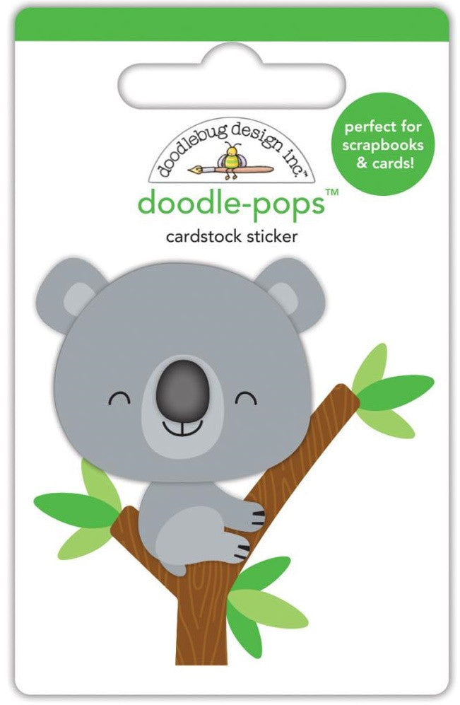 Doodlebug - Doodle-Pops Cardstock Stickers - At The Zoo KC Koala
