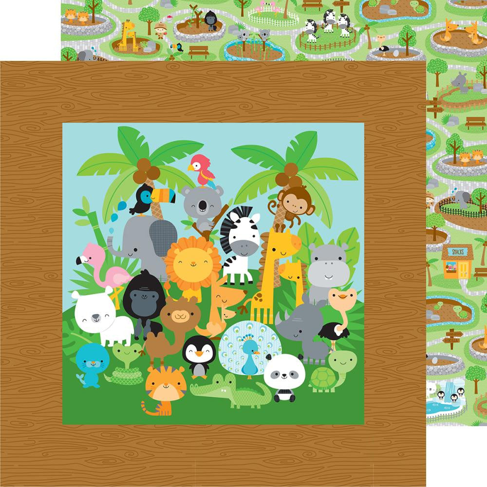 Doodlebug - At The Zoo Double-Sided Cardstock - At The Zoo