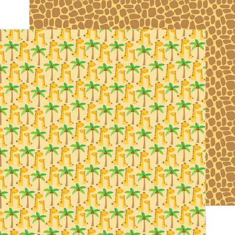 Doodlebug - At The Zoo Double-Sided Cardstock - Jolly Giraffes (Available: March 31, 2017)