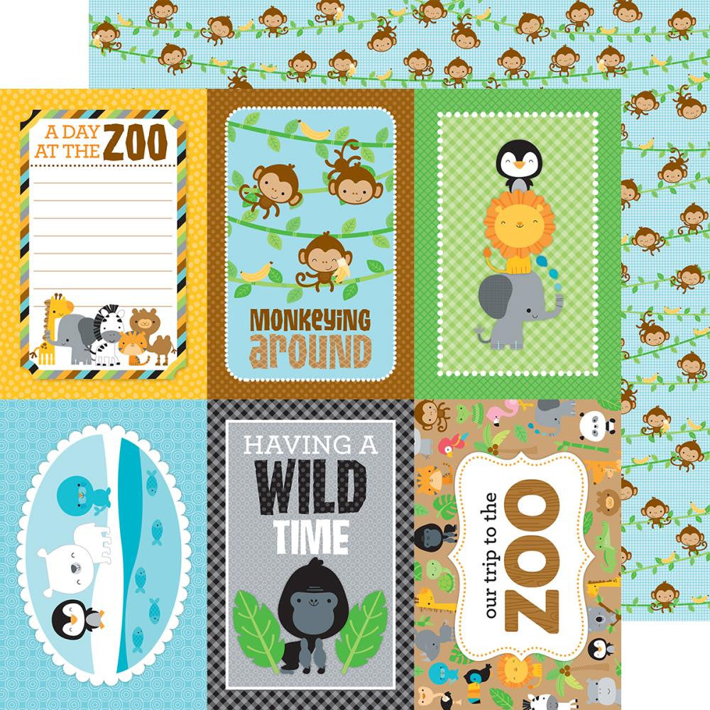 Doodlebug - At The Zoo Double-Sided Cardstock - Hanging Out
