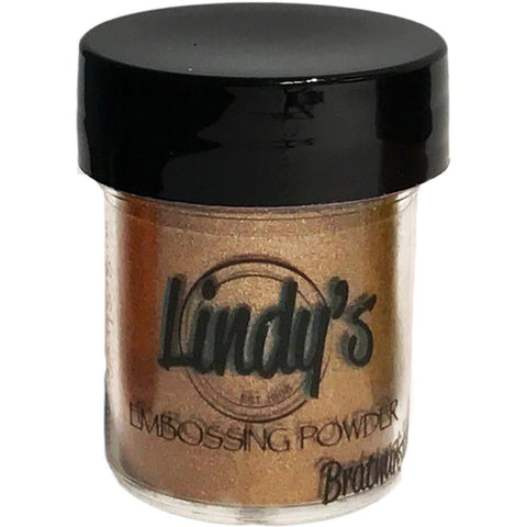 Lindy's Stamp Gang 2-Tone Embossing Powder .5oz - Bratwurst Brown