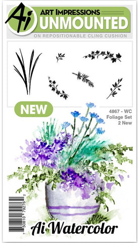***Pre-Order*** Art Impressions - Watercolor Cling Rubber Stamps - Foliage 2