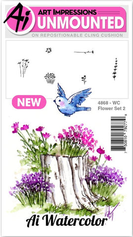 ***Pre-Order*** Art Impressions - Watercolor Cling Rubber Stamps - Flower 2