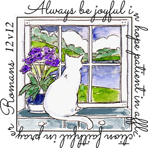 ***Pre-Order*** Art Impressions - Windows To The World Cling Stamps - Be Joyful