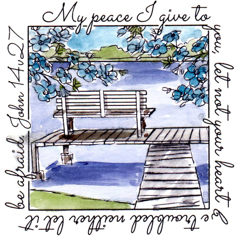 Art Impressions - Windows To The World Cling Stamps - Peace
