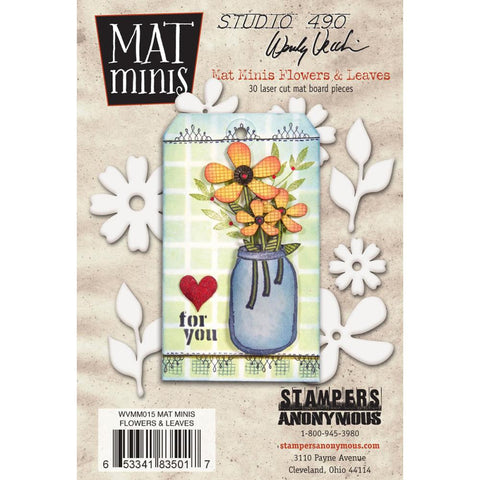 Studio 490 Mini Mat Board - Flowers & Leaves