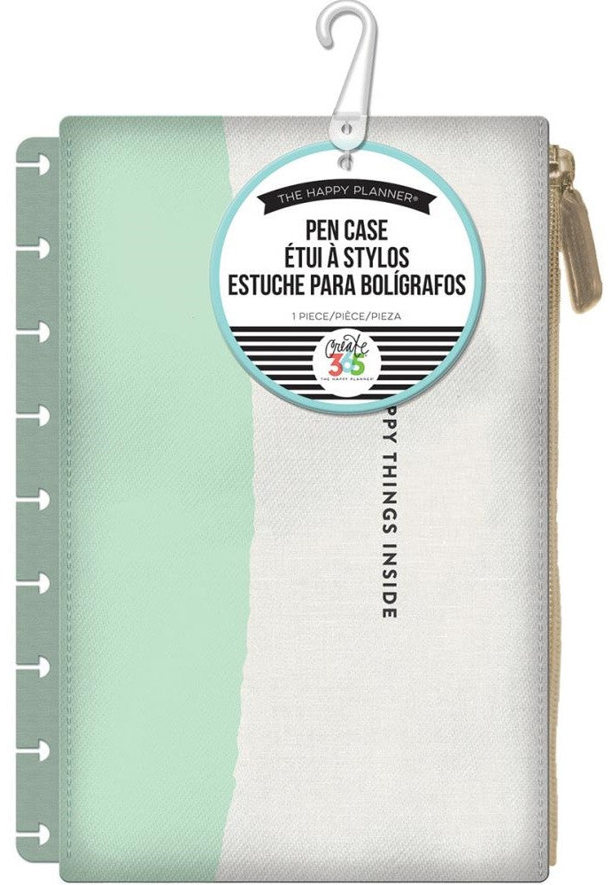 Create 365 The Happy Planner Pen Case - Happy Things Inside, Mint & White