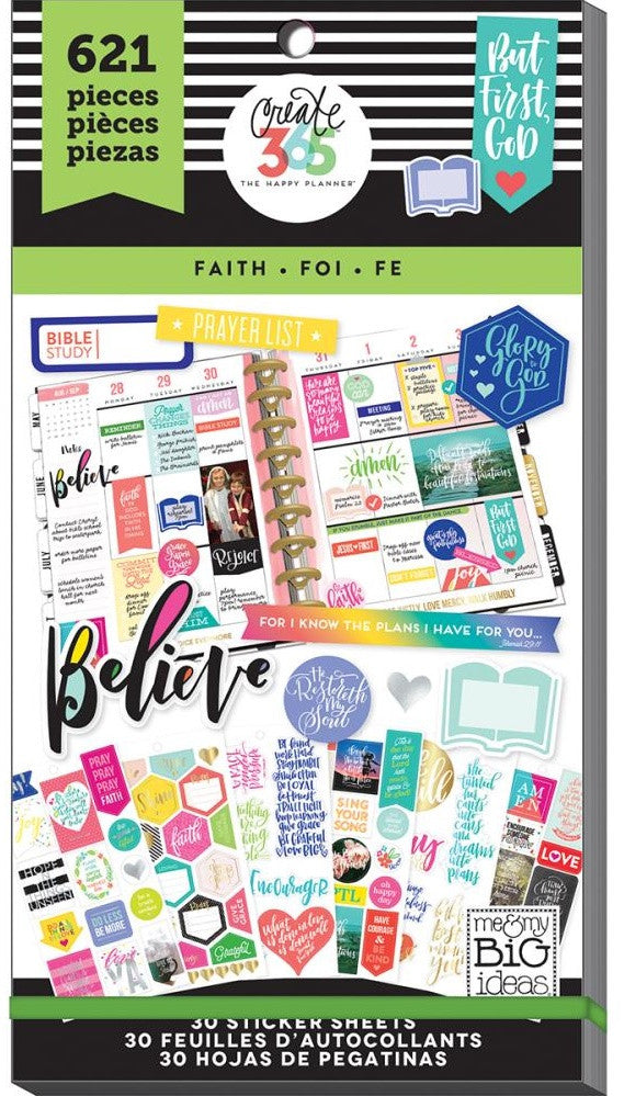 Me & My Big Ideas - Create 365 The Happy Planner - Sticker Value Pack - Classic Faith