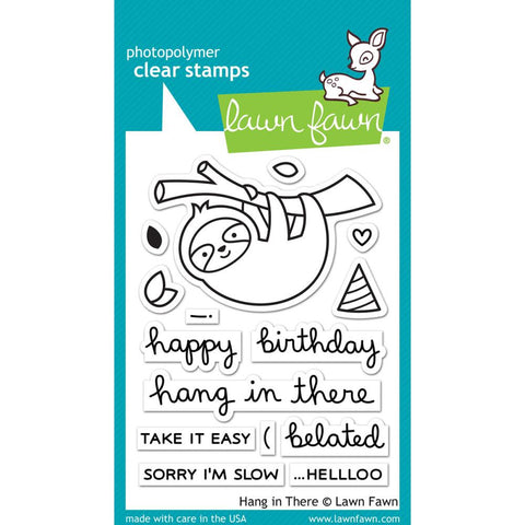 Lawn Fawn - Photopolymer Clear Stamps - Hang In There (coordinates with Hang In There Stamp Set)