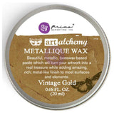 Prima Marketing - Finnabair Art Alchemy Metallique Wax - Vintage Gold
