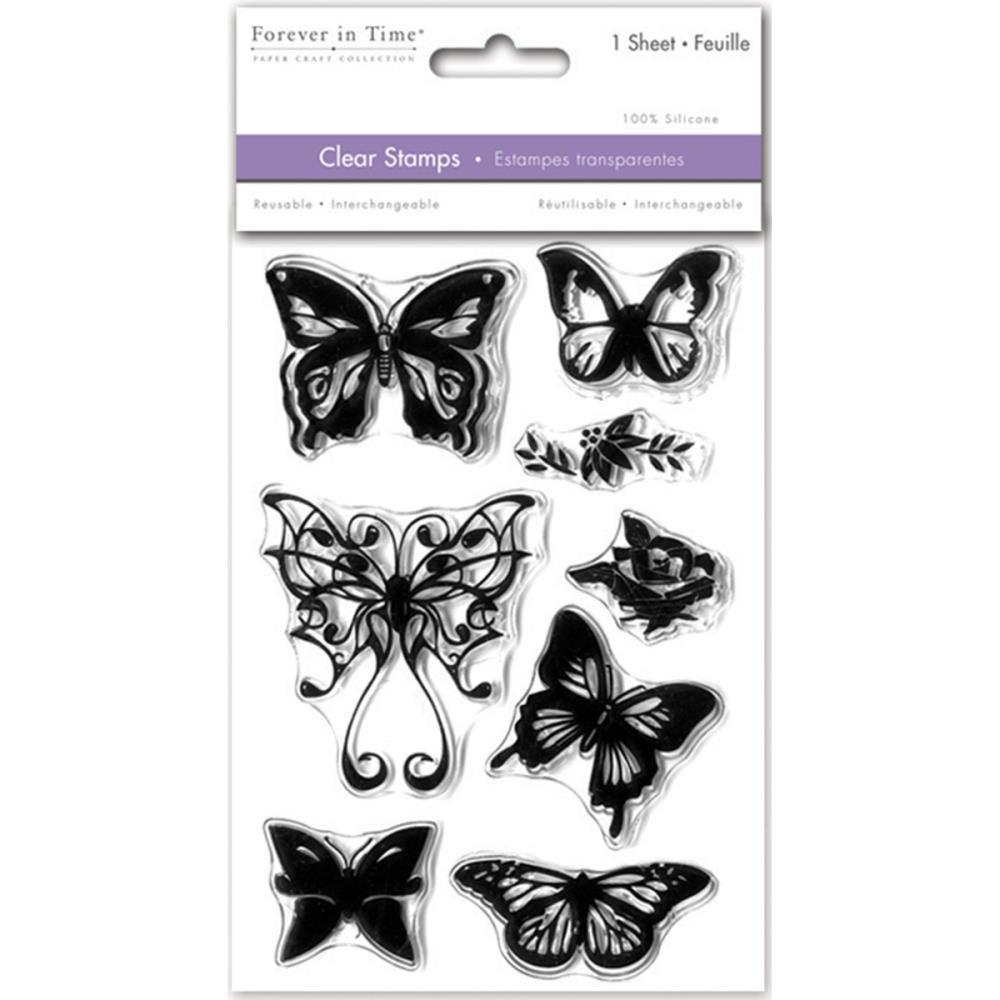 "MultiCraft Clear Stamps 4.12""X6.25"" - Butterfly Fancy"