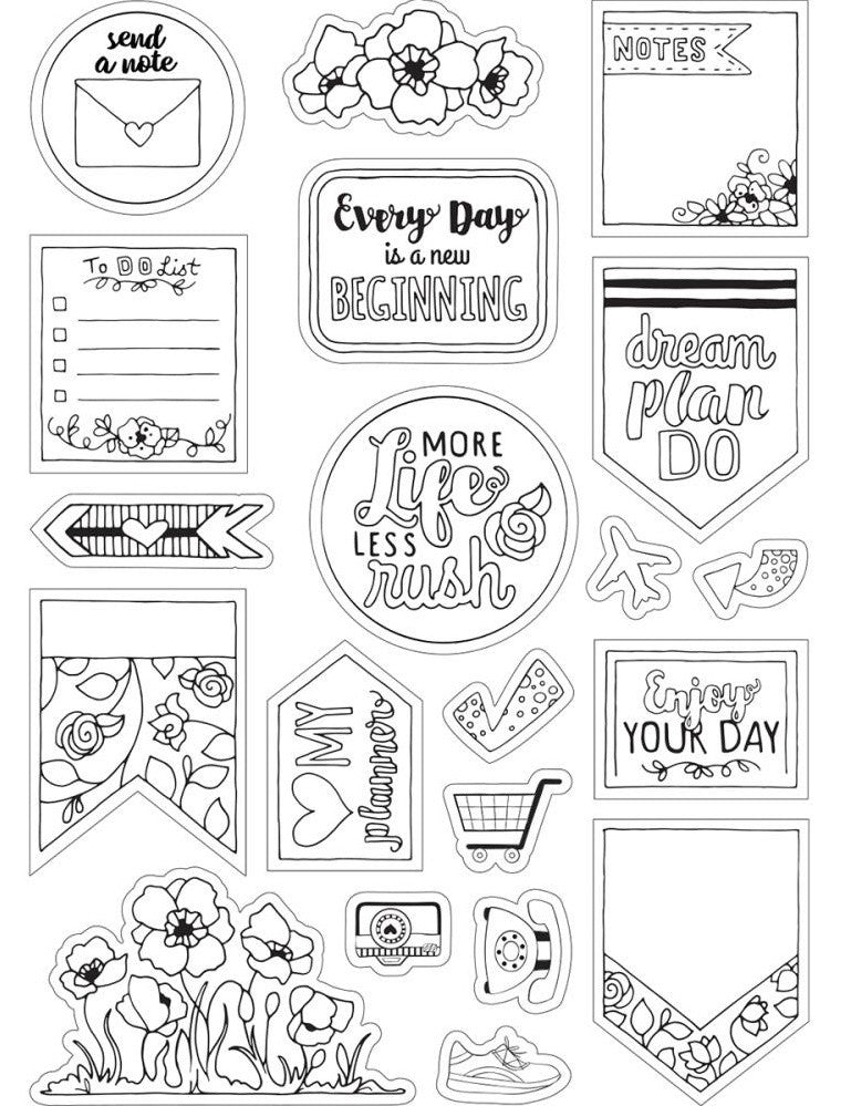 Sizzix - Coloring Stickers By Katelyn Lizardi - Color Your Planner