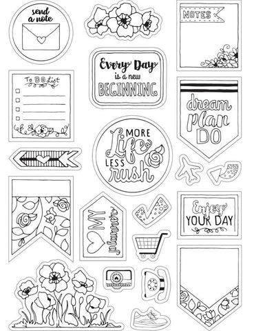 ***Pre-Order*** Sizzix - Coloring Stickers By Katelyn Lizardi - Color Your Planner