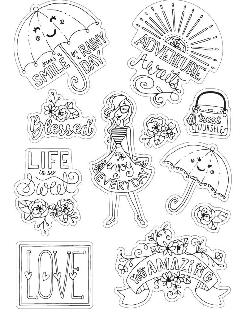 Sizzix - Coloring Stickers By Katelyn Lizardi - Enjoy Every Day