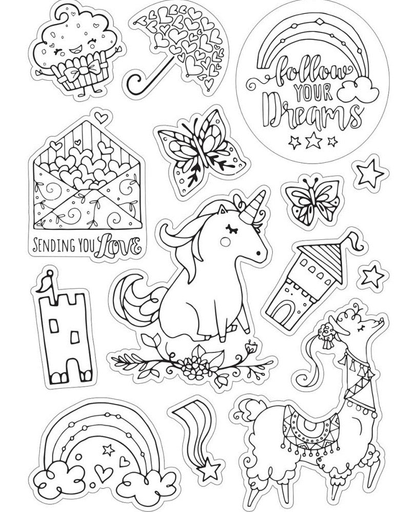 Sizzix - Coloring Stickers By Katelyn Lizardi - Follow Your Dreams