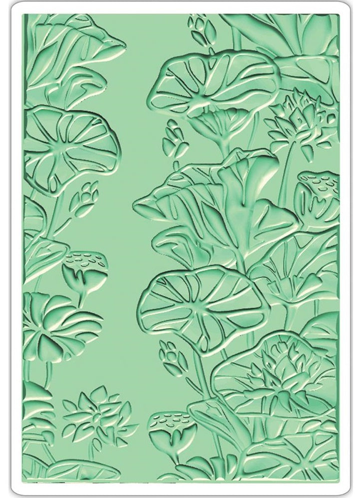 Sizzix - 3-D Textured Impressions Embossing Folder - Lily Pond