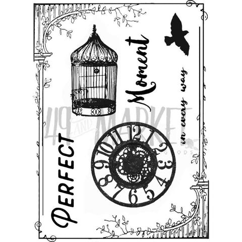 "49 and Market - Clear Stamps 3""X4"" - Scents Of Nature"
