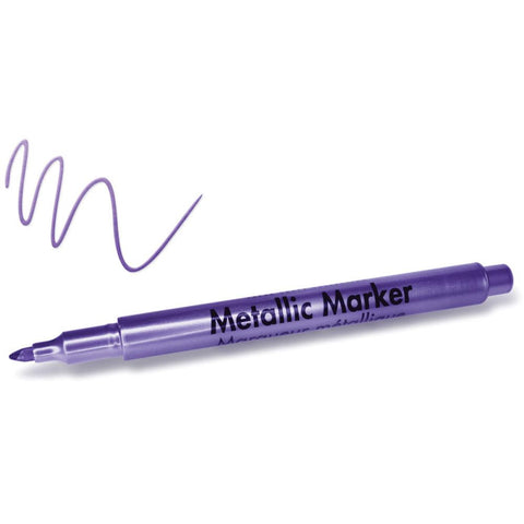 Metallic Permanent Marker 1.2mm Fine Point - Purple
