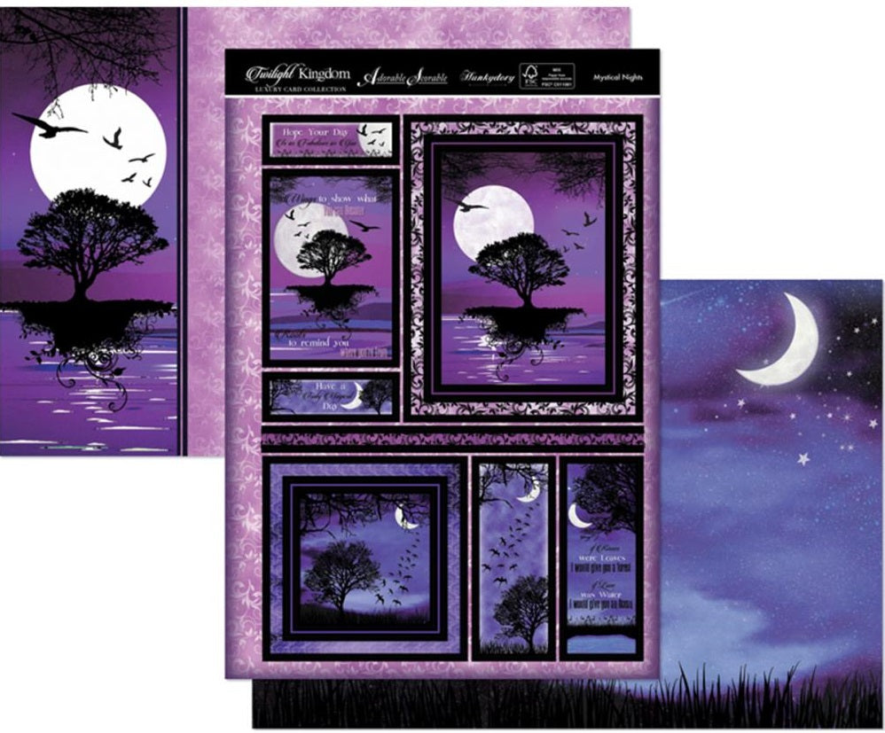 Hunkydory Crafts - Twilight Kingdom Luxury Topper Set - Mystical Nights