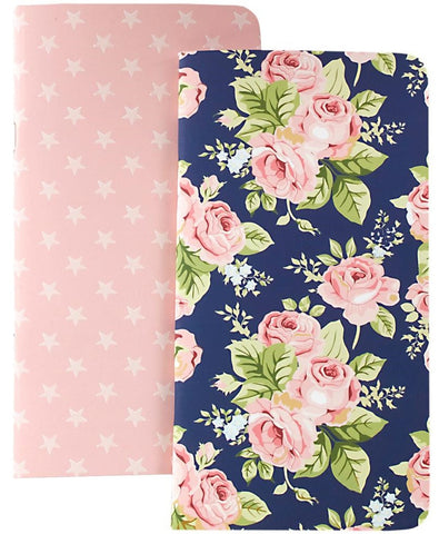 Webster's Pages - Color Crush Traveler's Planner Notebooks - Floral & Stars with 80 Pink Sheets