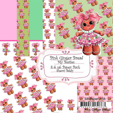 "My Besties - Single-Sided Paper 6""X6"" 8/Pkg - Pink Ginger Bread"