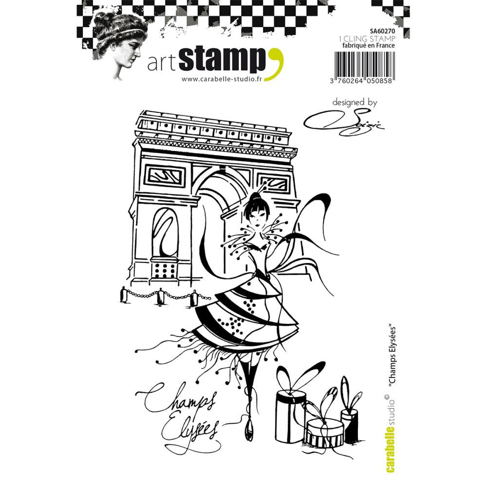 Carabelle Studio - Cling Stamp A6 - Champs Elysees By Soizic (Available: March 5, 2017)