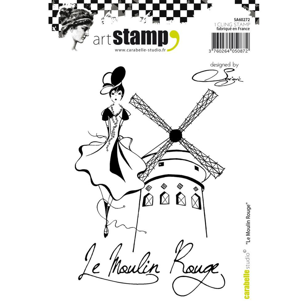 Carabelle Studio - Cling Stamp A6 - Le Moulin Rouge By Soizic (Available: March 5, 2017)