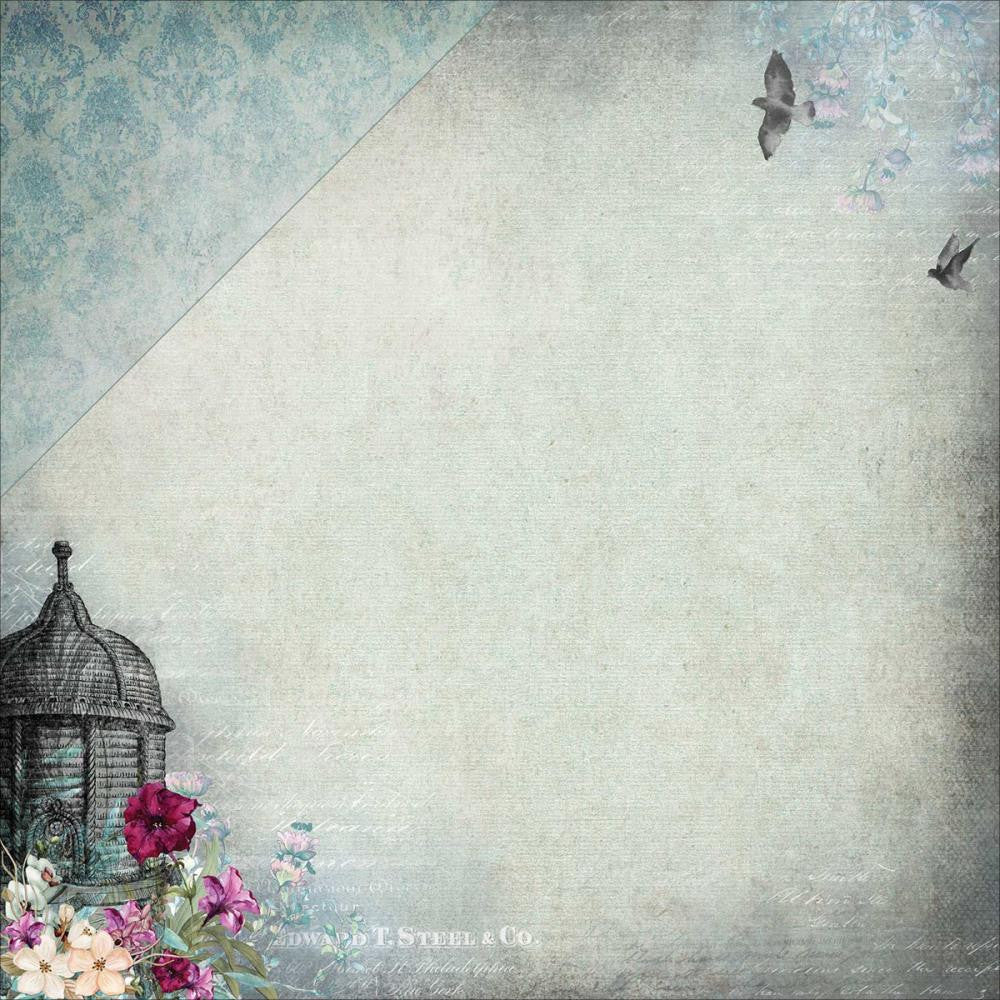 "49 and Market - Scents Of Nature Double-Sided Cardstock 12""X12"" - The Forgotten (Availability February 29, 2017)"