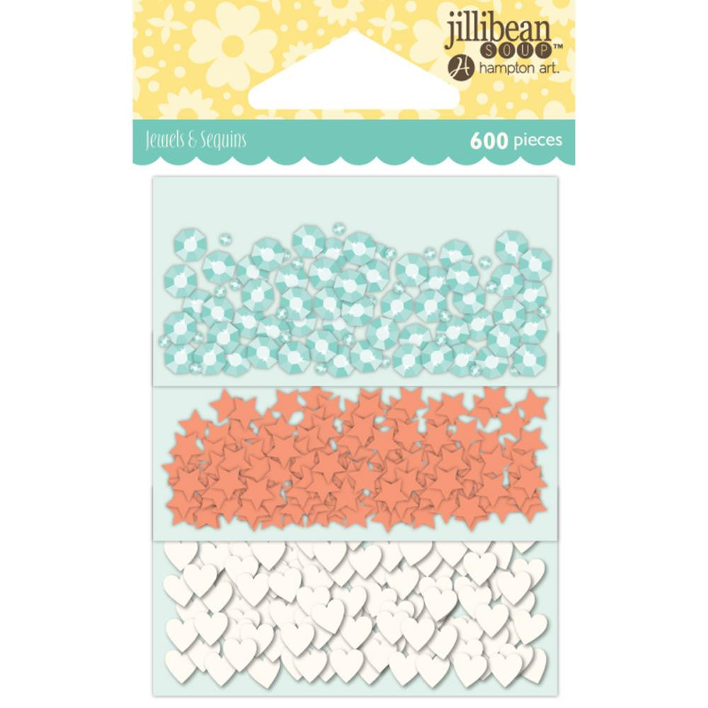Jillibean Soup Shaker Card Sequin Pack Watercolor W/Shapes, 200/Pkg  (Shaker Card)