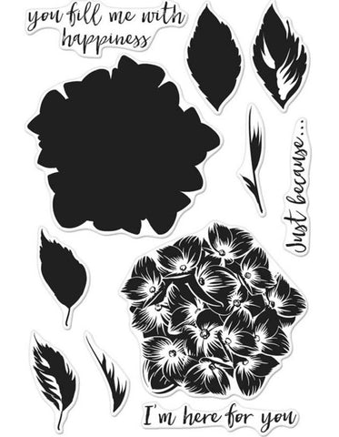 Hero Arts - Clear Stamps - Color Layering Hydrangea