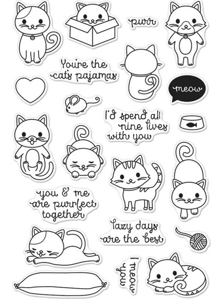 Hero Arts - Clear Stamps - Purr