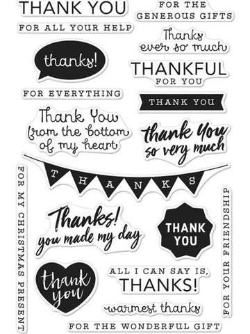 Hero Arts - Clear Stamps - Thank You Messages