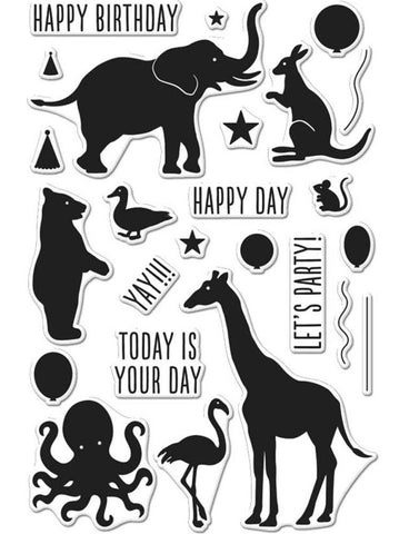 Hero Arts - Clear Stamps - Birthday Animal Silhouettes