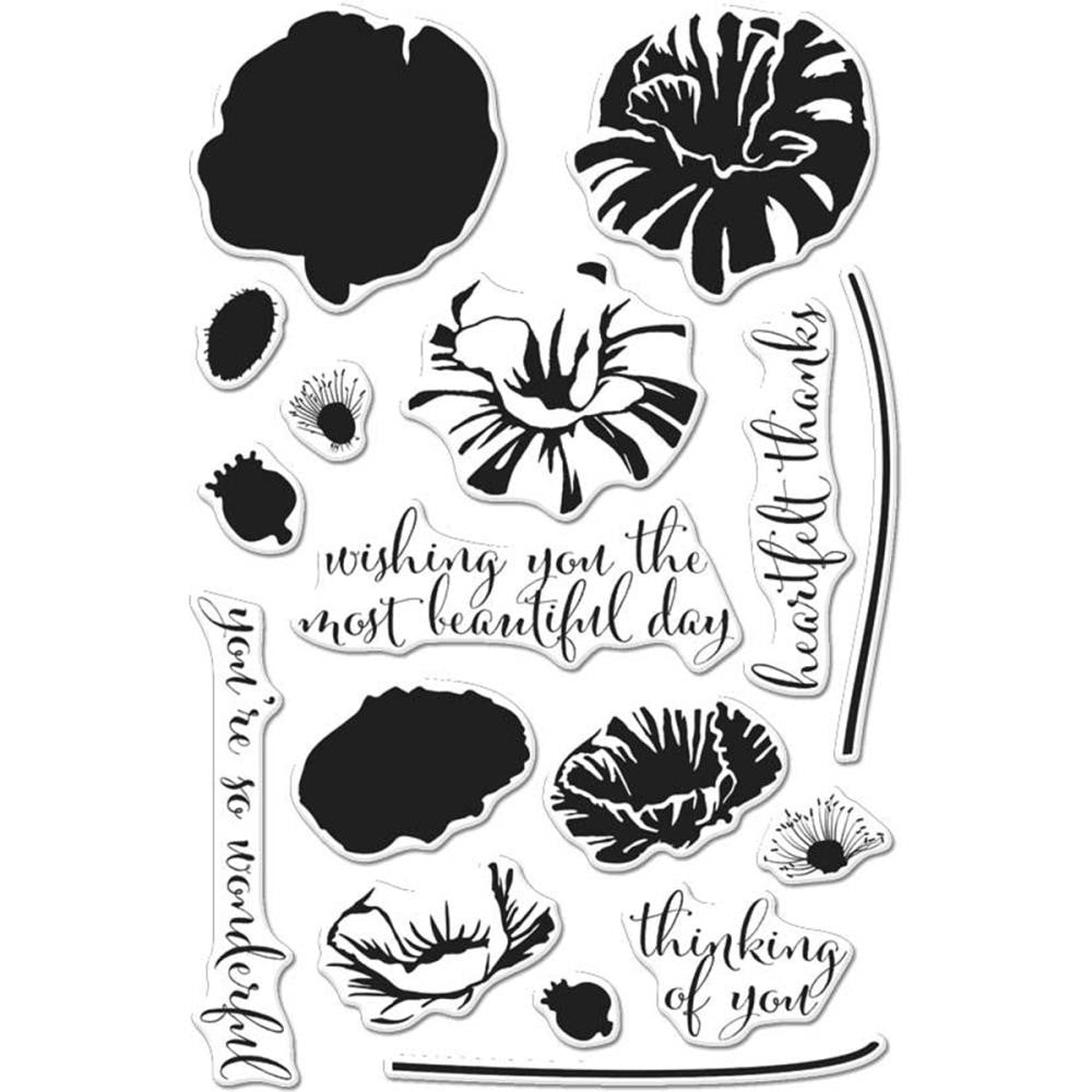 "Hero Arts - Clear Stamps 4""X6"" - Color Layering Poppy"