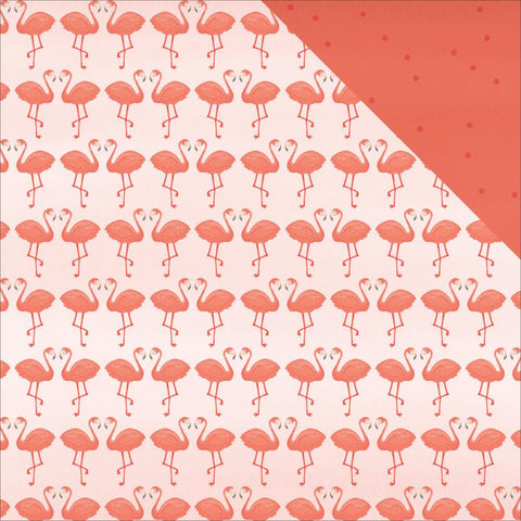 "My Mind's Eyes - Palm Beach Double-Sided Cardstock 12""X12""- Flamingos"