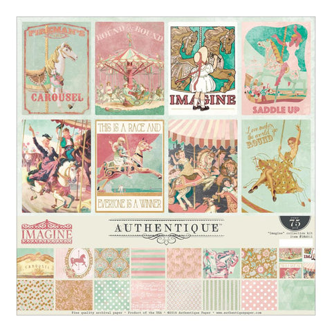 Authentique Paper - Authentique Collection Kit - Imagine (Available: March 25, 2017)