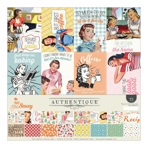Authentique Paper - Authentique Collection Kit - Saucy (Available: March 25, 2017)