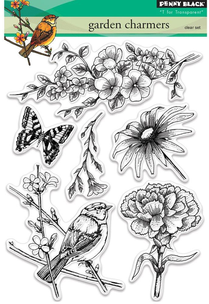 Penny Black - Clear Stamps - Garden Charmers