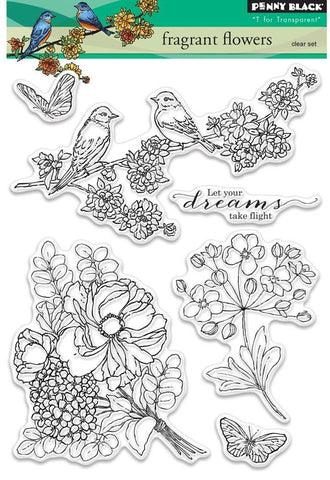 Penny Black - Clear Stamps - Fragrant Flowers