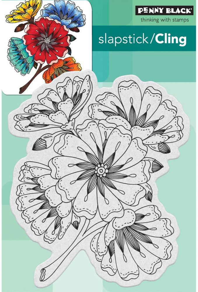 Penny Black - Cling Stamps - Burst Of Blooms