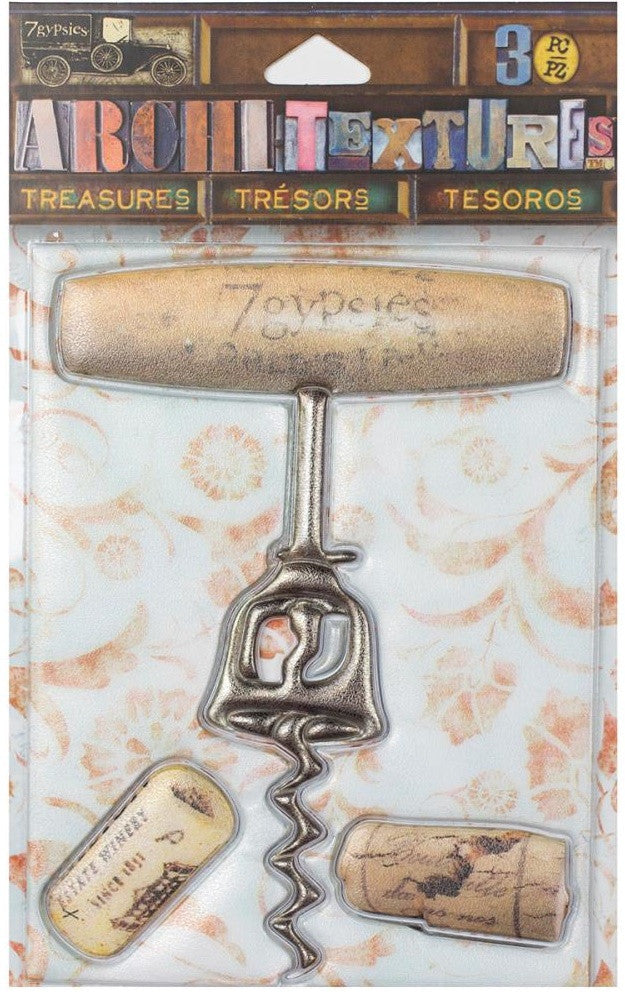 7Gypsies - Architextures Treasures - Wooden Corkscrew