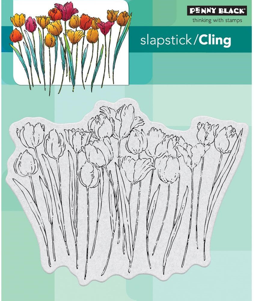 Penny Black - Cling Stamps - Tulip Queue