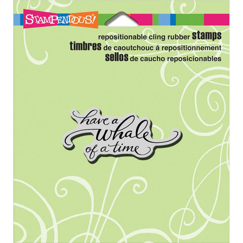 ***Pre-Order*** Stampendous - Cling Stamps - Whale Of A Time