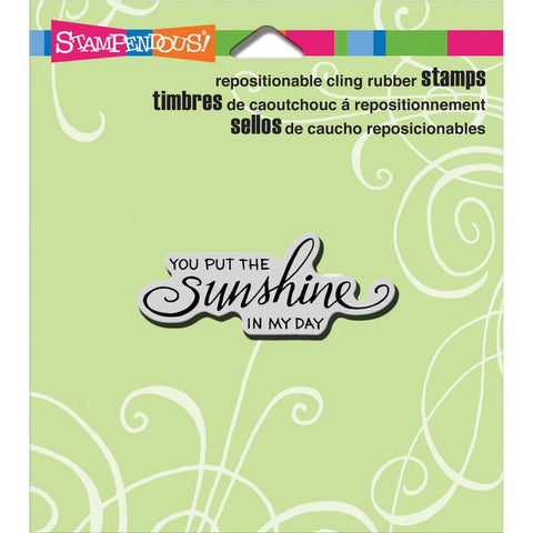 Stampendous - Cling Stamps - Scrolled Sunshine