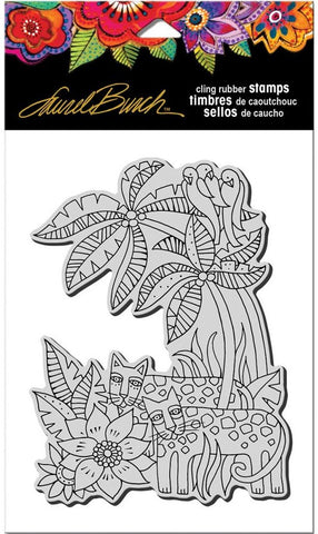 ***Pre-Order*** Stampendous - Laurel Burch Cling Stamps - Leopard Jungle