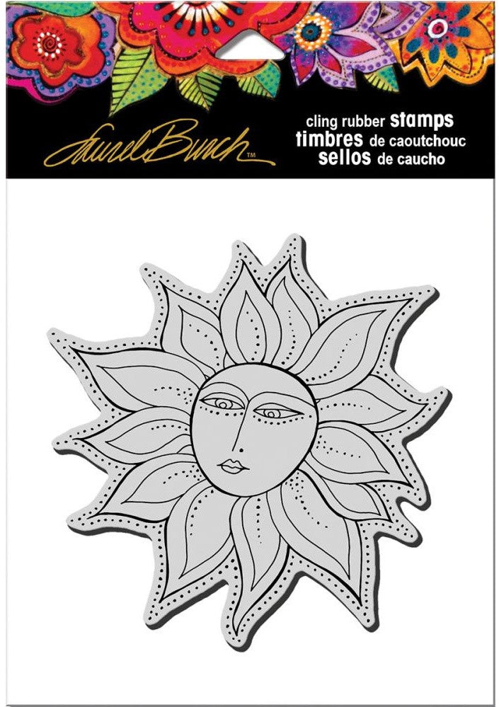 Stampendous - Laurel Burch Cling Stamps - Sister Sun