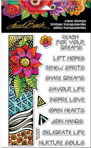 Stampendous - Laurel Burch Clear Stamps - Flora Wishes