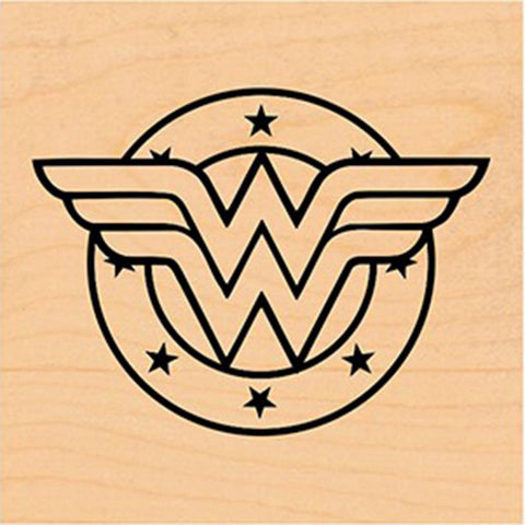 DC Comic Rubber Stamp - Wonder Woman Shield